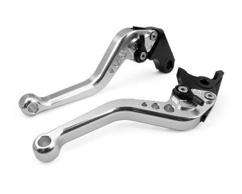 A pair of Short Billet Aluminum Clutch Brake Levers Motorcycle Set Silver for Honda CBR1000RR FIREBLADE 2004 2005 2006 2007 H-33F-33