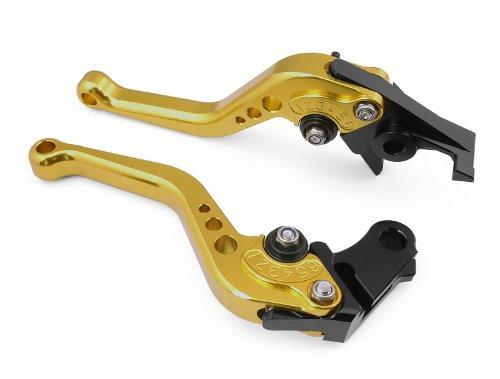 ATAC pair of Short Billet Aluminum Clutch Brake Levers Motorcycle Set Gold for Honda CBR1000RR FIREBLADE 2008 2009 2010 2011 2012 Y-688HF-33