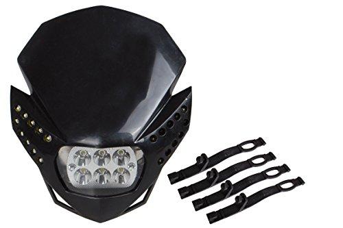 TMS HL-TMS-K6LED Black LED Headlight Fairing Light Street Fighter Naked Off-Road Dirt Bike Custom For BMW KTM CBR F4i XR CRF Ninja EX250 ZX6R