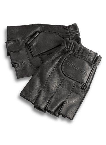 Milwaukee Motorcycle Clothing Company MMCC Fingerless Gloves with Gel Palm Black XX-Large