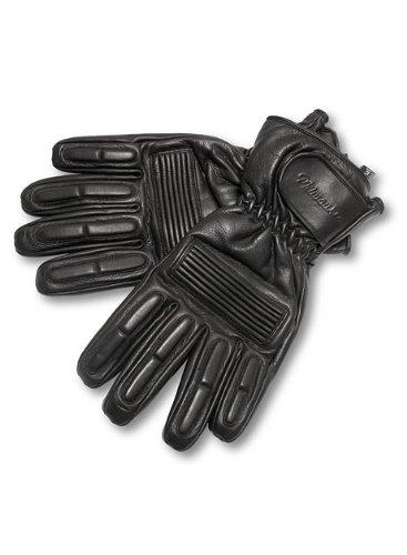 Milwaukee Motorcycle Clothing Company Mens Gauntlet Gloves Black Large