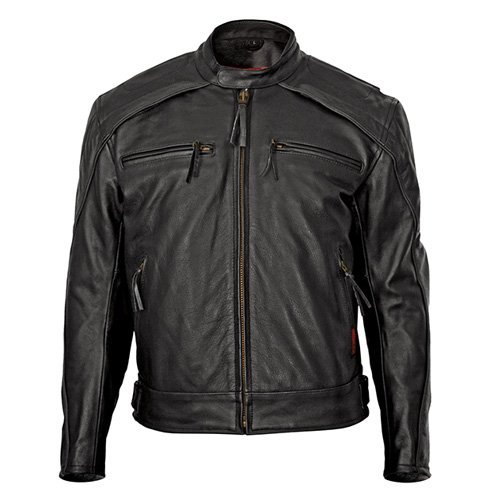 Milwaukee Motorcycle Clothing Company Mens Warrior Jacket Black Medium
