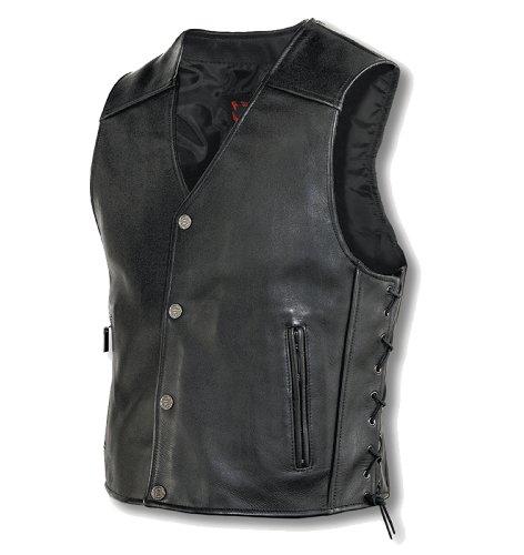 Milwaukee Motorcycle Clothing Company Mens Joker Vest Black Large