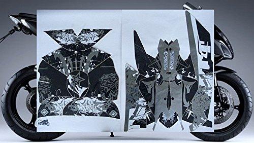 2009-2014 Yamaha YZF R1 BLACK GRAFFITI GRAPHICS KIT
