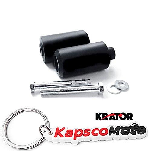 Krator 2002-2003 Yamaha YZF R1 Black Frame Sliders Crash Protectors Motorcycle  KapscoMoto Keychain