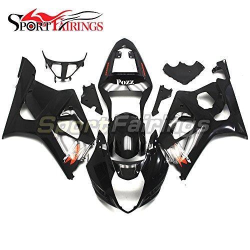 Sportfairings Complete Injection Fairing Kits For Suzuki GSX-R1000 K3 Year 2003 2004 GSXR 1000 Fairings Bodyworks Gloss Black
