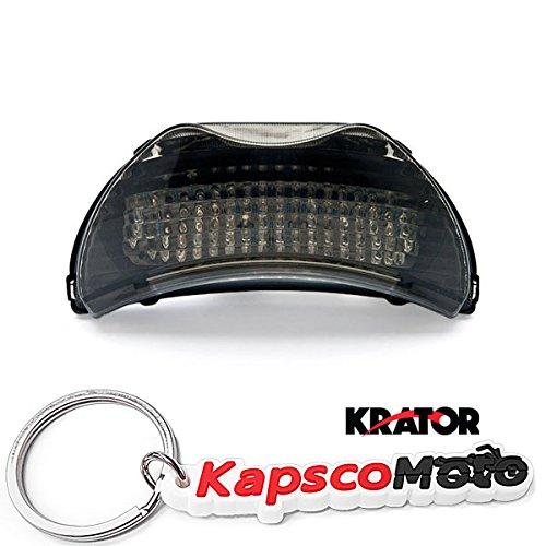 Krator 1999-2006 Honda CBR 600 F4  F4i CBR 900RR LED TailLights Brake Tail Lights with Integrated Turn Signals Indicators Smoke Motorcycle  KapscoMoto Keychain