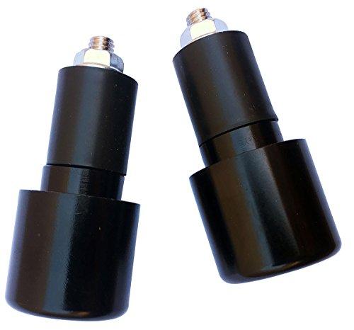 Black 78 CNC Aluminum Handlebar End Weights Caps Plugs Sliders for 2006 Honda CBR600RR