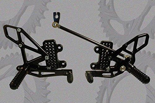 VORTEX Racing 07-16 HONDA CBR600RR Black Adjustable Rearsets RS265K