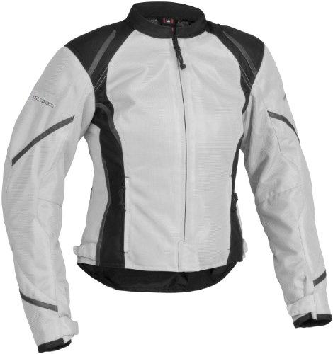 Firstgear Mesh-Tex Womens Motorcycle Riding Jacket Silver Medium