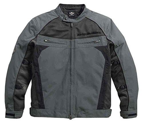Harley-Davidson Mens Utilitarian Textile Mesh Riding Jacket Black 97124-16VM Large