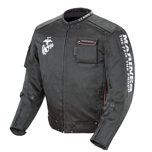 Joe Rocket Marines Alpha Mens Official Licensed Motorcycle Riding Jacket Black Small