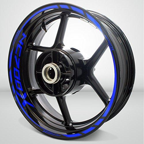 Honda NC 700X Gloss Blue Motorcycle Rim Wheel Decal Accessory Sticker