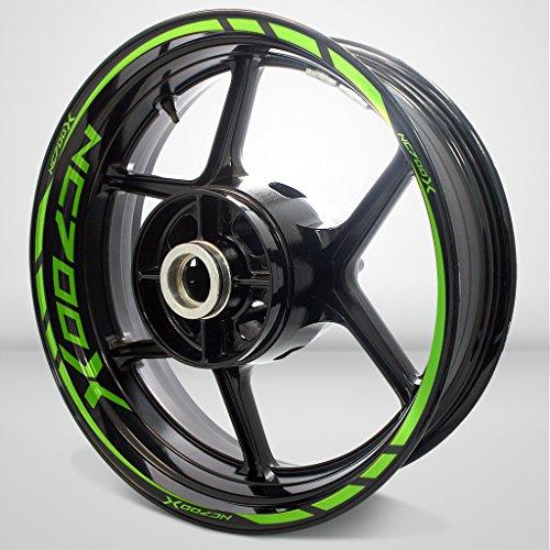 Honda NC 700X Gloss Light Green Motorcycle Rim Wheel Decal Accessory Sticker