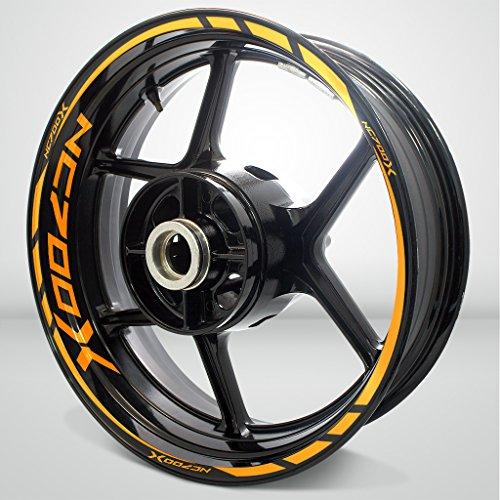 Honda NC 700X Gloss Orange Motorcycle Rim Wheel Decal Accessory Sticker