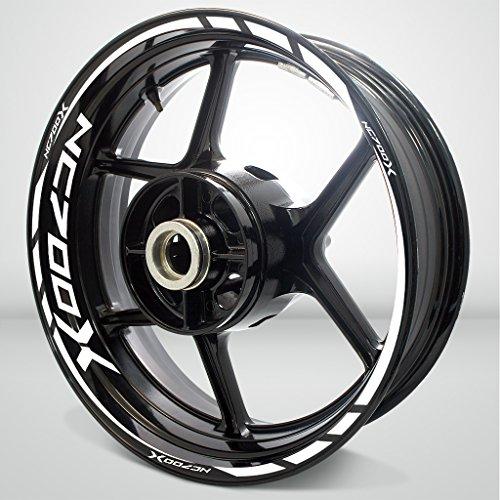 Honda NC 700X Gloss White Motorcycle Rim Wheel Decal Accessory Sticker
