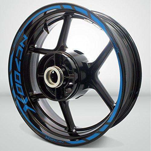Honda NC 700X Matte Blue Motorcycle Rim Wheel Decal Accessory Sticker