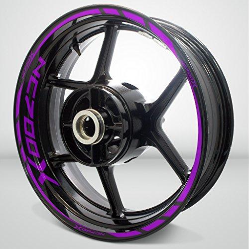 Honda NC 700X Matte Purple Motorcycle Rim Wheel Decal Accessory Sticker