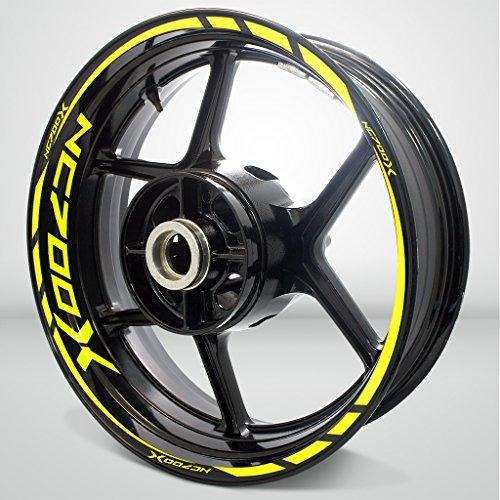 Honda NC 700X Matte Yellow Motorcycle Rim Wheel Decal Accessory Sticker