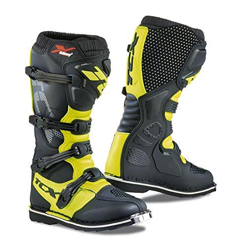 TCX X-Blast Offroad Motorcycle Boots BlackYellow EU41US8 More Size Options