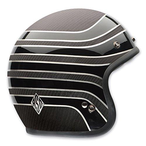 Bell RSD Talladega Custom 500 Carbon Cruiser Motorcycle Helmet - MatteGloss  Small