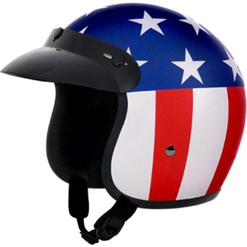 Daytona Captain America DOT Approved 34 Shell Cruiser Motorcycle Helmet - Large