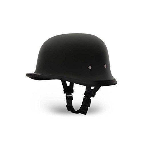 Daytona German BasicCustom Novelty Cruiser Motorcycle Helmet - Dull Black  Small
