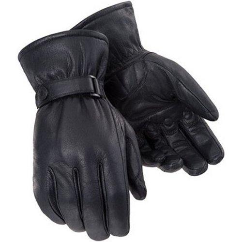 Tour Master Custom Midweight Mens Leather Cruiser Motorcycle Gloves - Black  Medium