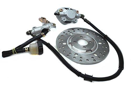 Rear Foot brake Hydraulic Master Cylinder Caliper Disk Assy For 150cc 200cc 250cc ATV Quad