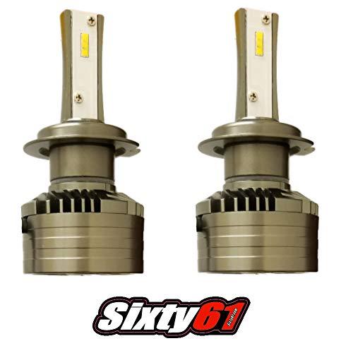 Sixty61 LED Bulbs for Kawasaki ZX6R 2003-2006 35W Headlight White High Power 10000 LM ZX 6R