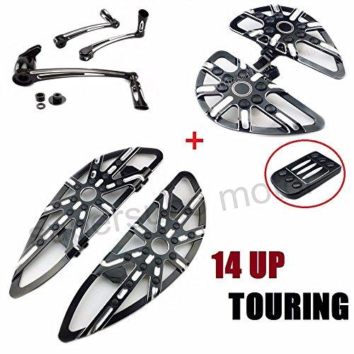 Motorcyle floorboards harley passenger footboards  brake arm harley Heel Toe Shift Lever  Pedal touring floorboards 14-17…