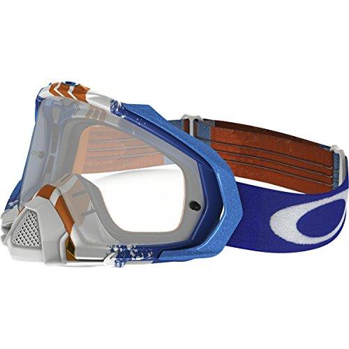 Oakley Mayhem Pro MX Pinned Race Mens Dirt Motocross Motorcycle Goggles Eyewear - Blue OrangeClearOne Size Fits All
