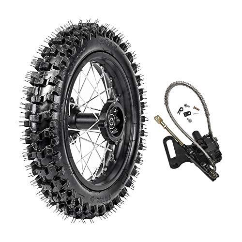 TDPRO 80100-12 Rear Tire Disc Brake Wheel Rim With 15mm Bearing Hydraulic Disc Brake Master Caliper for Pit Pro Dirt Bike