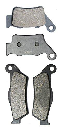 CNBK Motorcycle Semi Met Brake Shoe Pads Set fit for HUSQVARNA Dirt Bike WR250 WR 250 cc 250cc 00 01 02 03 04 05 2000 2001 2002 2003 2004 2005 4 Pads