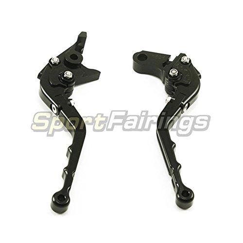 Sportfairings Folding Wave Brake Clutch Levers For Kawasaki ZX6R 2000-2004 ZX10R 2004 2005 Z1000 2003-2006 ZZR600 2005-2009 ZX12R 2000 2001 2002 2003 2004 2005 Black