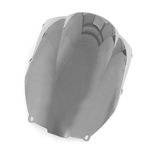 Windshield WindScreen Double Bubble For Kawasaki ZX6R 2000-2002 ZZR600 2005-2009 Chrome