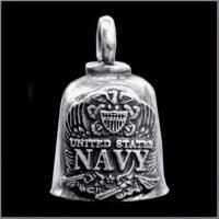 US NAVY LOGO Gremlin Bell guardian biker harley motorcycle good luck charm