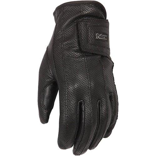 Pokerun Xg Men's Leather Touring Motorcycle Gloves - Black / Large