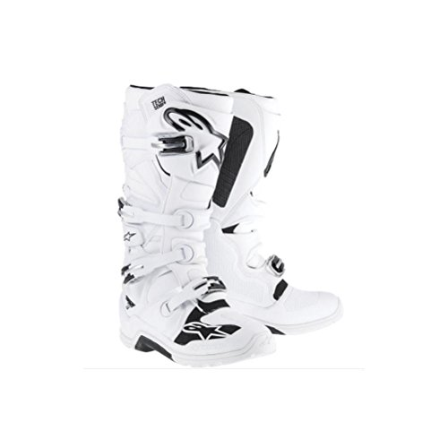 Alpinestars Tech 7 Enduro Mens Off-Road Motorcycle Boots - White  10