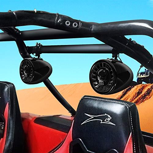 GoHawk AS5-X Gen2 All-in-One 600W Built-in Amplifier 5 Full Range Waterproof Bluetooth ATV RZR UTV Stereo Speakers Audio Amp System 1-15 Bar Yamaha Polaris 4 Wheeler Can-Am AS5-X Black