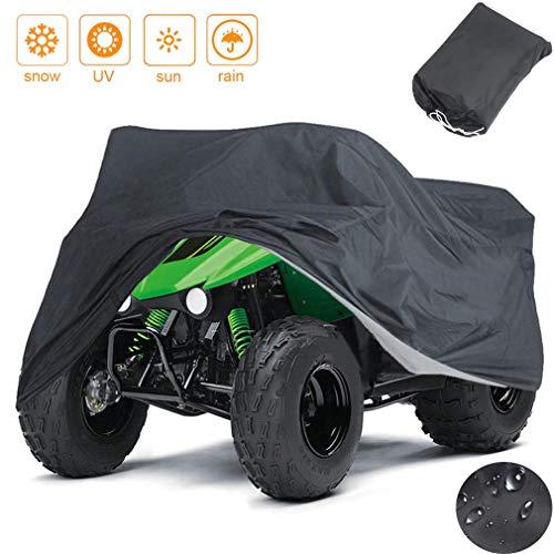 Indeedbuy Waterproof ATV CoverLarge Heavy Duty Black Protects 4 Wheeler From Snow Rain or Sun102 x44 x 48