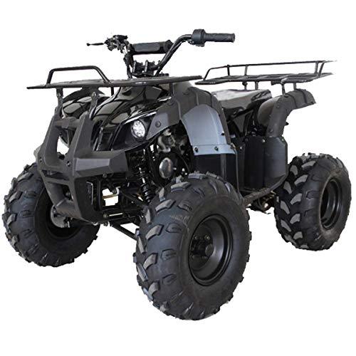 X-PRO ATV for Sale 125cc ATV Quad Youth 4 Wheeler ATVs Big Kids Adults ATV Four Wheelers with Big Shining LED Headlight and Remote ControlBlack