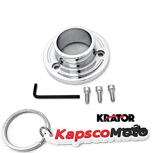 Krator Polaris Predator 500  Outlaw 500525 ATV Exhaust Tip Muffler Power Outlet Polished Chrome  KapscoMoto Keychain