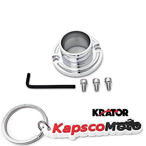 Krator Yamaha Badger 80  Breeze 125  Raptor 5080  Grizzly 80125 ATV Exhaust Tip Muffler Power Outlet Polished Chrome  KapscoMoto Keychain