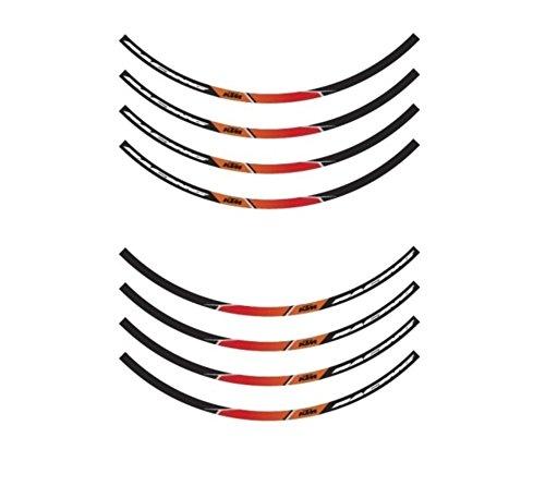 NEW KTM RIM DECALS STICKER KIT BLACK FITS ALL 125-530 CC 1998-2013 78109999000