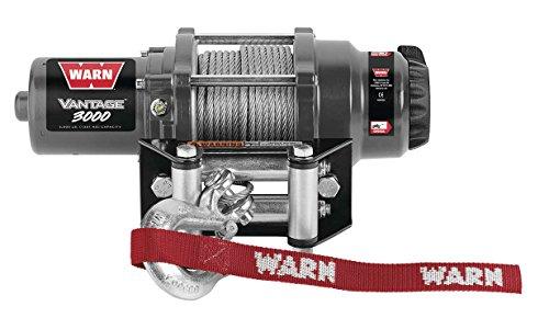 New Warn Vantage 3000 lb Winch With Model Specific Mounting Hardware - 2002-2006 Suzuki Vinson 500 4x4 Automatic ATV