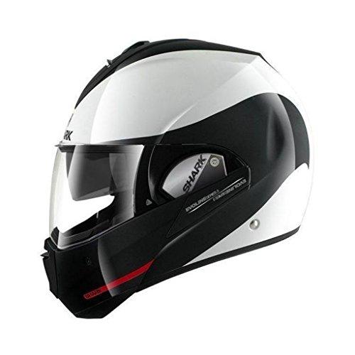 Shark Evoline Series 3 Hakka White Black Red Modular Motorcycle Helmet Size Large