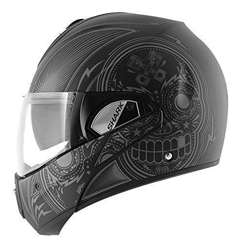 Shark Evoline Series 3 Mezcal Matte Black Anthracite Silver Modular Motorcycle Helmet Size Large