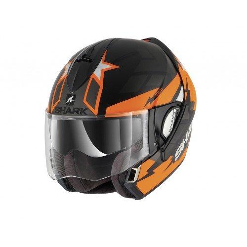Shark Evoline Series 3 Strelka Matt Black Orange Anthracite Helmet S