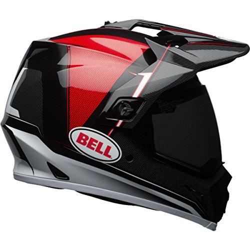 Bell MX-9 Berm Adventure MIPS Full-Face Motorcycle Helmet Gloss BlackRedWhite Large